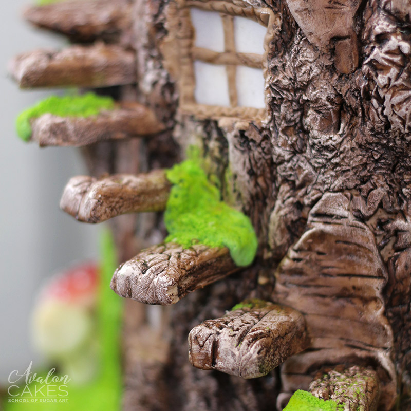 Fairy Log Stump Tree House Woodland Cake that Lights Up Tutorial